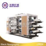 Nuoxin 6 Farbe HochgeschwindigkeitsFlexo Drucken-Maschine