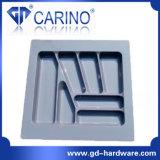 Bac à couverts en plastique, plateau plastifié sous vide (W599)