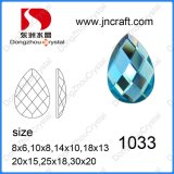 Garment를 위한 Pujiang Factory Flat Back Decorative Drop Glass Stone