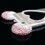 Pilha do espelho da forma do coração do inclinação/tampa/caixa telefone móvel para o iPhone 5/6/6plus