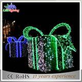 クリスマスLEDのギフト用の箱の通りのモチーフの装飾ライト