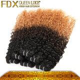 Preto cambojano da cor de tom do cabelo humano 3 dos artigos novos à onda de água de Brown