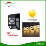 Lámpara al aire libre ligera solar solar impermeable de la cerca del camino de la yarda de 2016 de pared de las lámparas del ABS del camino LED del jardín iluminaciones de la pared para el pasillo casero