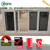 이중 유리로 끼워지는 UPVC/PVC 비닐 Windows를 미끄러지기