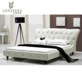 Französisches Schlafzimmer-Möbel-echtes Leder-Bett der Art-A056