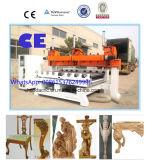 マルチヘッド5軸線回転式同時CNCの木製の切り分けるルーター機械