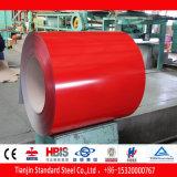 Acero galvanizado prepintado rojo amarillento PPGI de Ral 3012