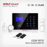 GSM het Systeem van het Alarm met Kaart RFID en GSM van het Toetsenbord van de Aanraking het Intelligente Draadloze Systeem van het Alarm van de Veiligheid van de Inbreker voor de Veiligheid yl-007m2fx van het Huis