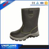Zapatos de seguridad de acero de cuero del casquillo de la punta de los hombres S1p Ufa002