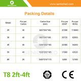 T8 LED Gefäß-freier Raum und bereiftes Deckel-Licht