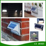 Lámpara al aire libre de aluminio del estilo de la pared de la luz del edificio del jardín de la escalera solar moderna de la cerca