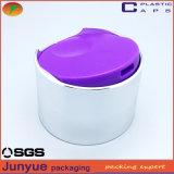 シャンプーのプラスチックびんのふた24/410二重ディスク上の帽子を電気めっきしなさい