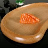 三日月形の木製パレットデザート版の皿のドライフルーツの版のデザートの食事用器具類のJapanese&Koreanの料理の刺身の大皿