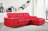 2015 sofas commerciaux contemporains plus vendus de cuir de salle de séjour (HC6365)