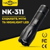 800 Lumen CREE Xml T6 Zoomable 18650 taktische Taschenlampe (NK-311)