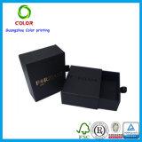 ورق مقوّى هبة سوداء يعبّئ صندوق مع رقيقة معدنيّة علامة تجاريّة