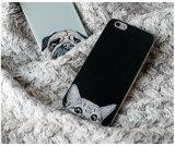 Exemplo engraçado ultra fino do cão do gato da forma para iPhone6
