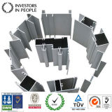 Perfis de alumínio/de alumínio da extrusão para as cortinas (RAL-228)