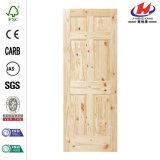 28 puerta interior hermosa de la losa del abeto 6-Panel de la pulgada