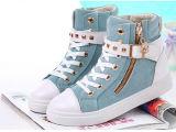 Neue Form-Art-Mädchen-Segeltuch-Schuhe mit Reißverschluss (NF-9)