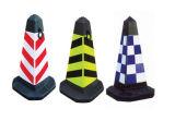 Cones flexíveis de borracha industriais profissionais do tráfego da estrada da venda quente