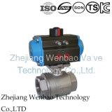 Vávula de bola roscada hembra motorizada eléctrica Ss316 2PC