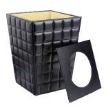 Wastebasket комнаты PU кожаный, ящик погани, ящик ванной комнаты неныжный (PJ-012)