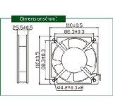 Axialer Kühlventilator Wechselstrom-220V