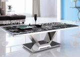 Mobilia moderna della casa della Tabella di tè del caffè del blocco per grafici superiore di marmo dell'acciaio inossidabile