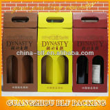Коробка вина бумажная рифлёная с 2 дверями (BLF-PBO028)
