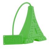 Mini sac de tamis de thé de silicones de modèle de Tour Eiffel