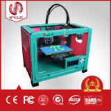 Grande impressora Desktop do tamanho 3D da impressão com bocal duplo, PLA de 1.75mm, ABS
