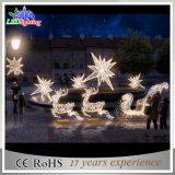 Luz ao ar livre personalizada feriado da rena do diodo emissor de luz da decoração do Natal do laser