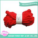 Fio extravagante misturado acrílico fresco vermelho do t-shirt da fita larga (FY-080)