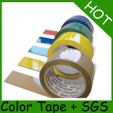 6 rollos plana Compactar BOPP cinta de embalaje con etiqueta