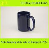 Fabrik-Verzeichnis-Großverkauf-Glasur-keramischer Becher mit Griff für Kaffee