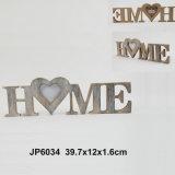 Decoração de madeira da mesa da letra da HOME do vintage