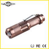 Lanterna elétrica tática telescópica impermeável do diodo emissor de luz do foco 3model (NK-628)