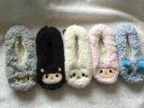 5つのカラー動物のヘッドプラシ天の屋内靴