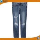 Фабрика 2017 весны Mens джинсыов джинсовой ткани хлопка прямо классицистических голубых