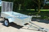 Трейлер верхнего качества горячий окунутый гальванизированный проарретированный с алюминиевым пандусом /Mesh пандуса