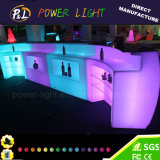 RGB Color Changing Plastic Furniture LED Glowing Modular Round Bar Counter