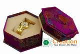 Rectángulo de papel irregular con las tapas para el empaquetado/rectángulo de la tapa del reloj y de la cartulina de la base
