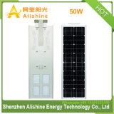 LiFePO4 리튬 건전지 50W LED 램프 통합 태양 가로등