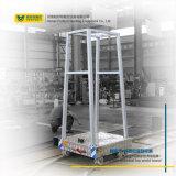 Carrello circolare di trasferimento della guida di industria del litio del carrello a pile della pista