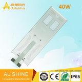 40W tutto compreso/ha integrato l'indicatore luminoso di via solare del LED con il sensore di movimento