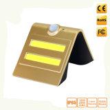 太陽動力を与えられたPIRの動きセンサーの機密保護LEDの壁ランプ