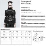 Y-775 comerciano i panciotti all'ingrosso sexy stretti delle donne europee alla moda di Steampunk