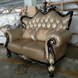 Sofá clássico novo do couro do estilo para a mobília do hotel (1212)