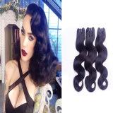 Бразильский уток волос объемной волны выдвижения 7A человеческих волос девственницы